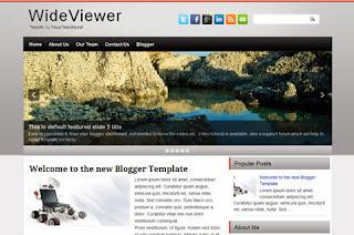 WideViewer Blogger Template