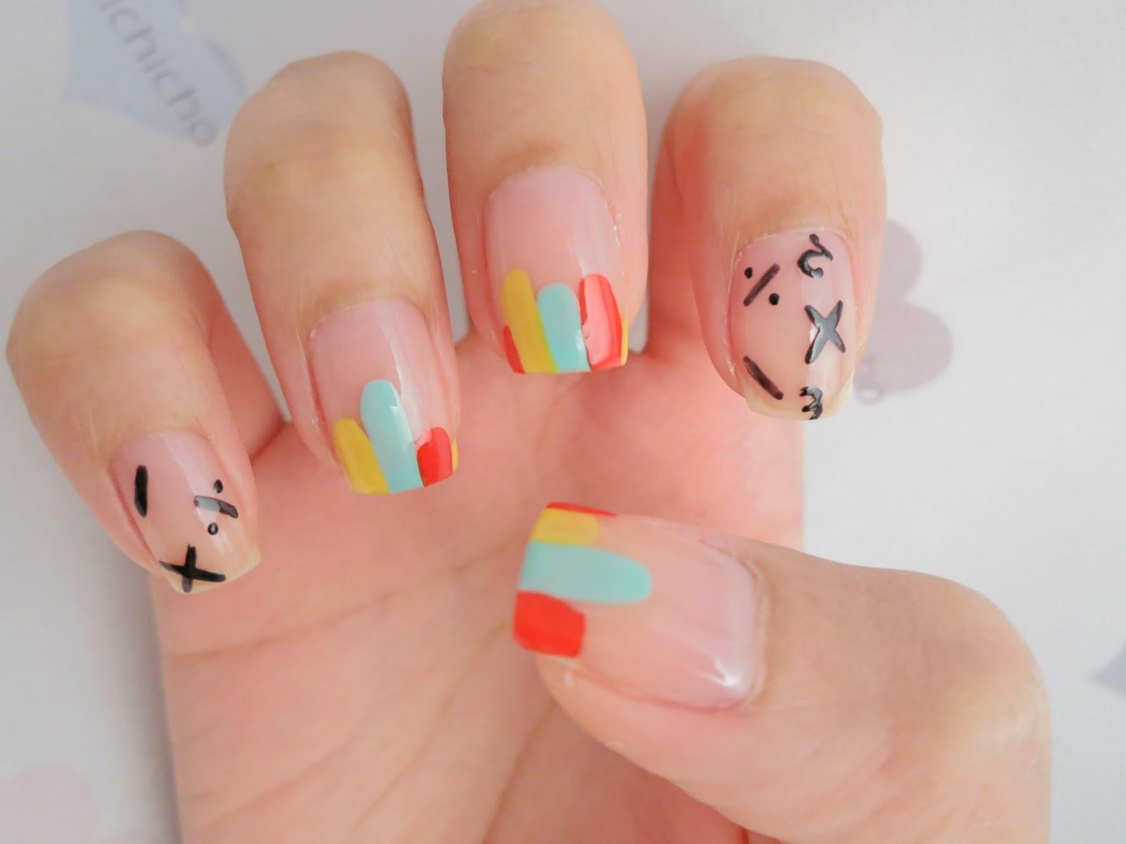 Math And Graphs Nail Art Chichicho