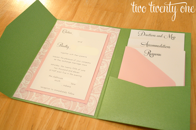 Here 39s one of our wedding invitations that I labored on for months happily