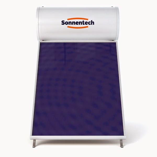 Ηλιακός θερμοσίφωνας υπέρ-υψηλής απόδοσης Sonnentech SF150 με συλλέκτη Titanium Full Face