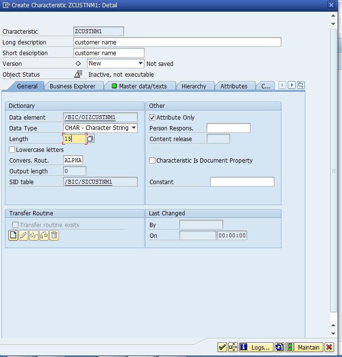 assign infoobject catalog