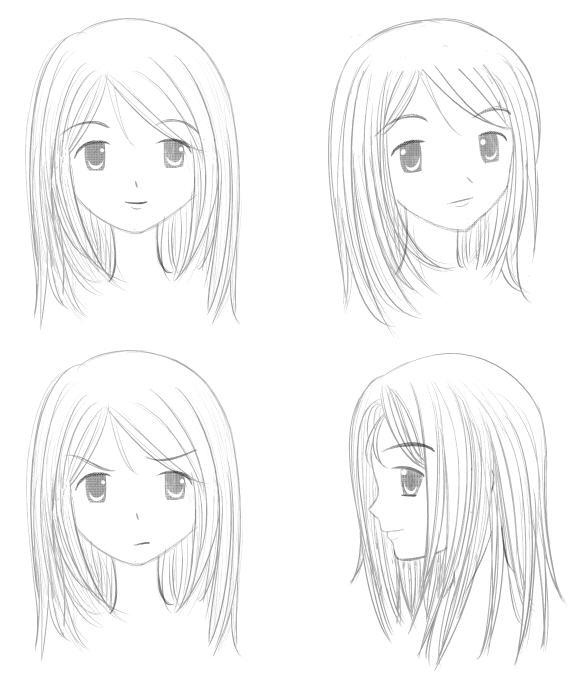 Mulai menggambar kontur wajah dahulu (menggambar wajah menghadap ke