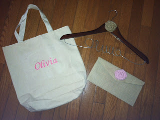 diy embroidered tote, personalized hanger, jute clutch with fabric roses