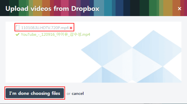 Vimeo Dropbox Upload 07