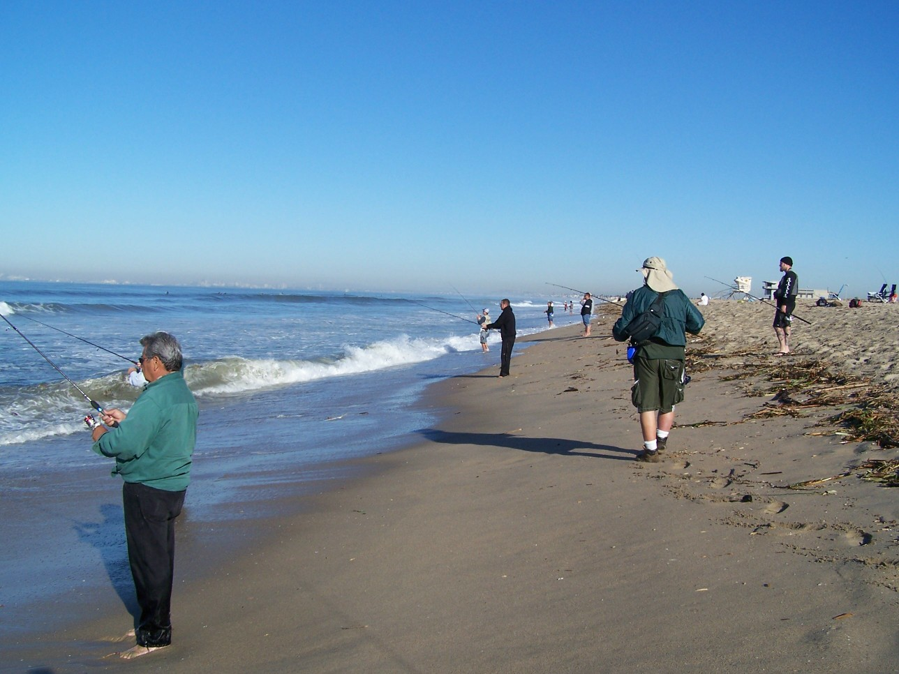 Surf fishing report for Seal beach fishing