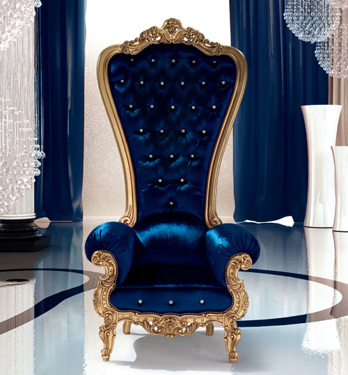 Furnitures for decor chair king and queen regal armchair Luxury wheelchairs