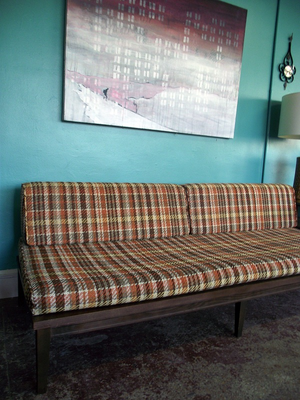 This Is An Awesome Mid Century Modern Armless Sofa. This Thing Is In  Wonderful Condition With The Exception Of A Small Tear In The Back Of One  Of The Back ...