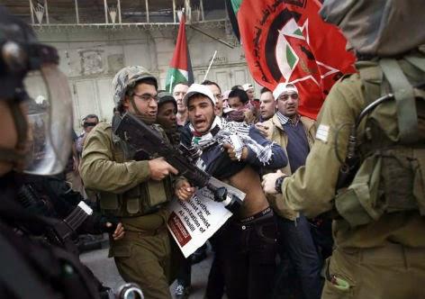 Confrontos no centro de Hebron