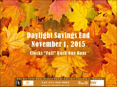 Daylight Saving Times, DST, Ends on November 1