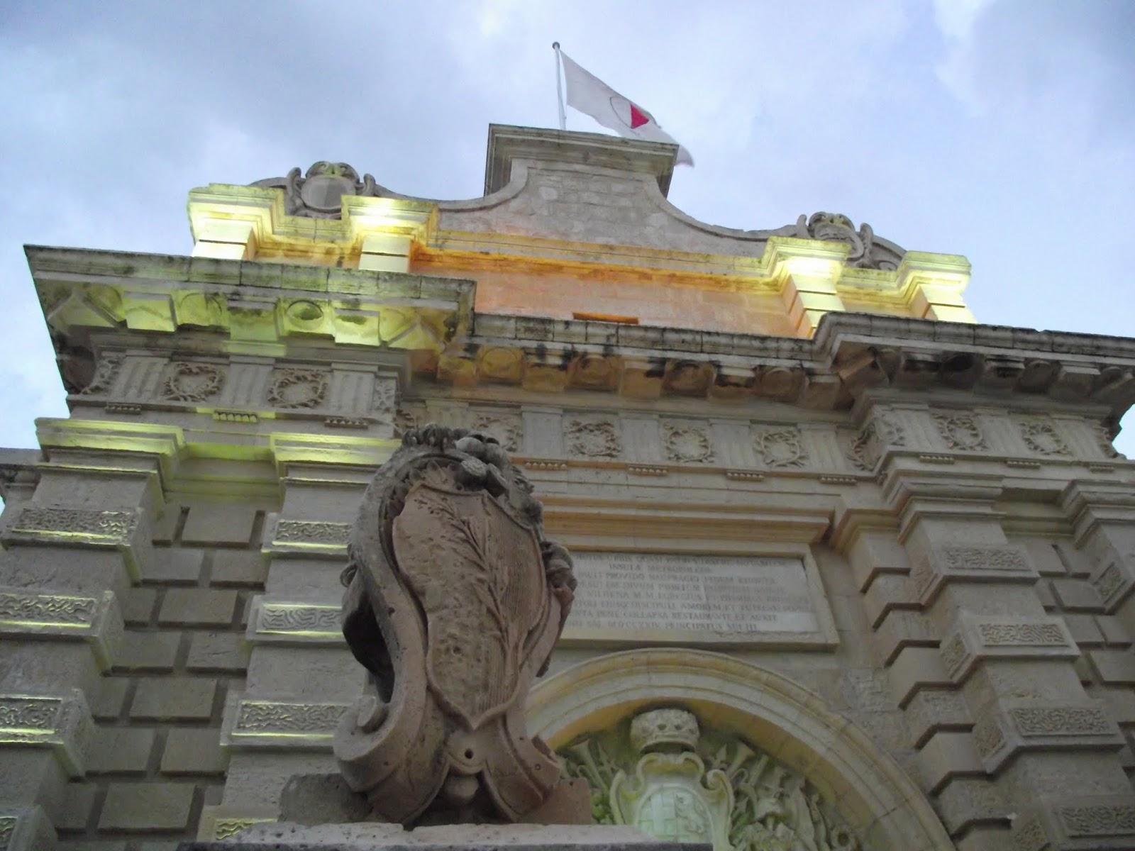 Puerta principal de Mdina (antigua capital de Malta)