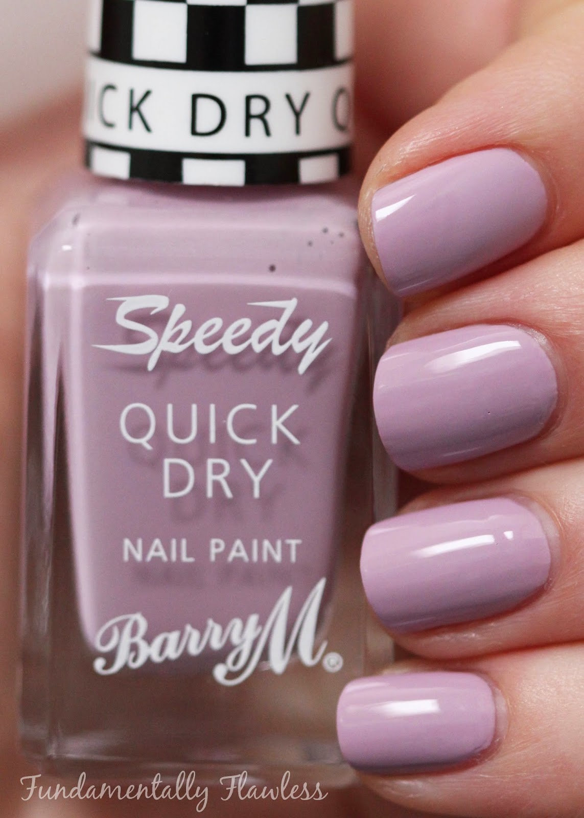 Barry M Lap of Honour speedy dry swatch - pastel purple