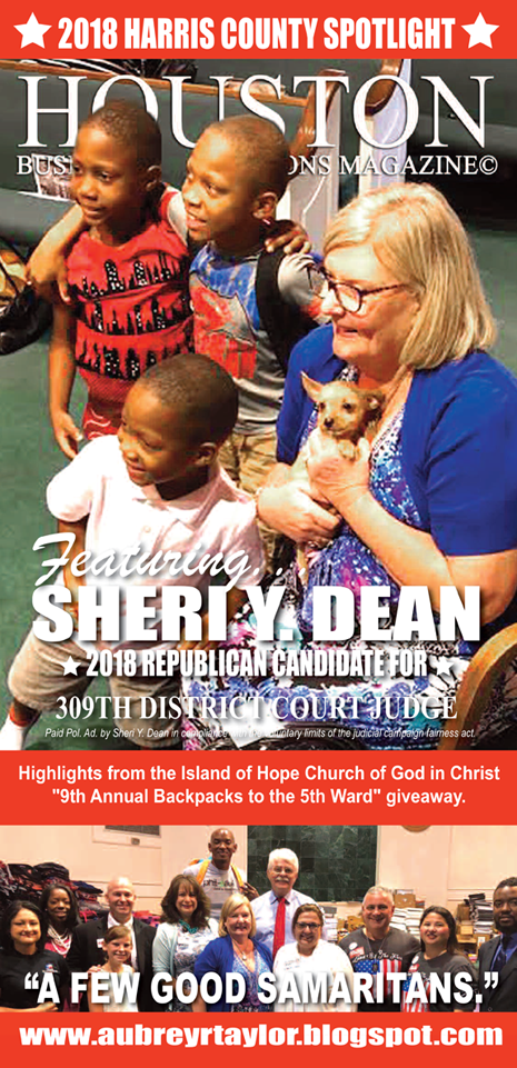 JUDGE SHERI Y. DEAN AND OTHER CANDIDATES WHO VALUE THE SUPPORT OF EVERY HARRIS COUNTY VOTER!