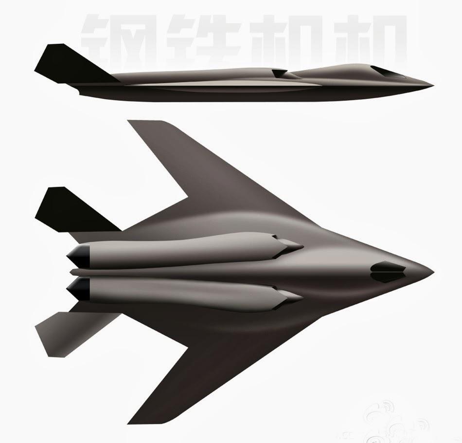 Cgi Of Chinese H 18 Medium Range Supersonic Stealth Bomber