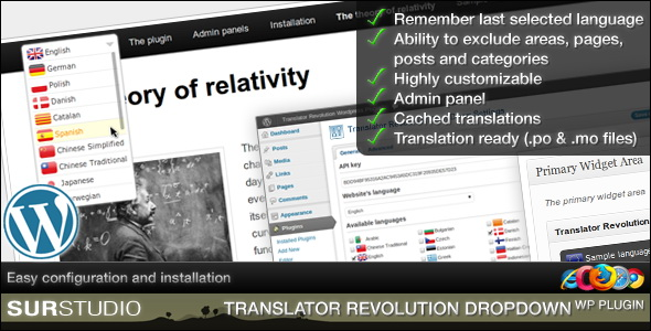 CodeCanyon - Ajax Translator Revolution DropDown WP Plugin
