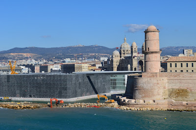 The MuCem, the Fort St Jean and the Cathedrale de Sainte Marie Majeure - Marseille 2013