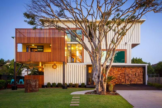 Artistic Shipping Container Home in Brisbane