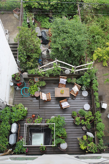 66 square feet plus terrace garden rainwashed in harlem for Terrace garden