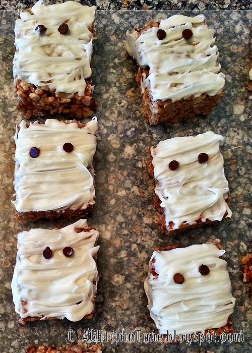 Decorated rice crispie bars.