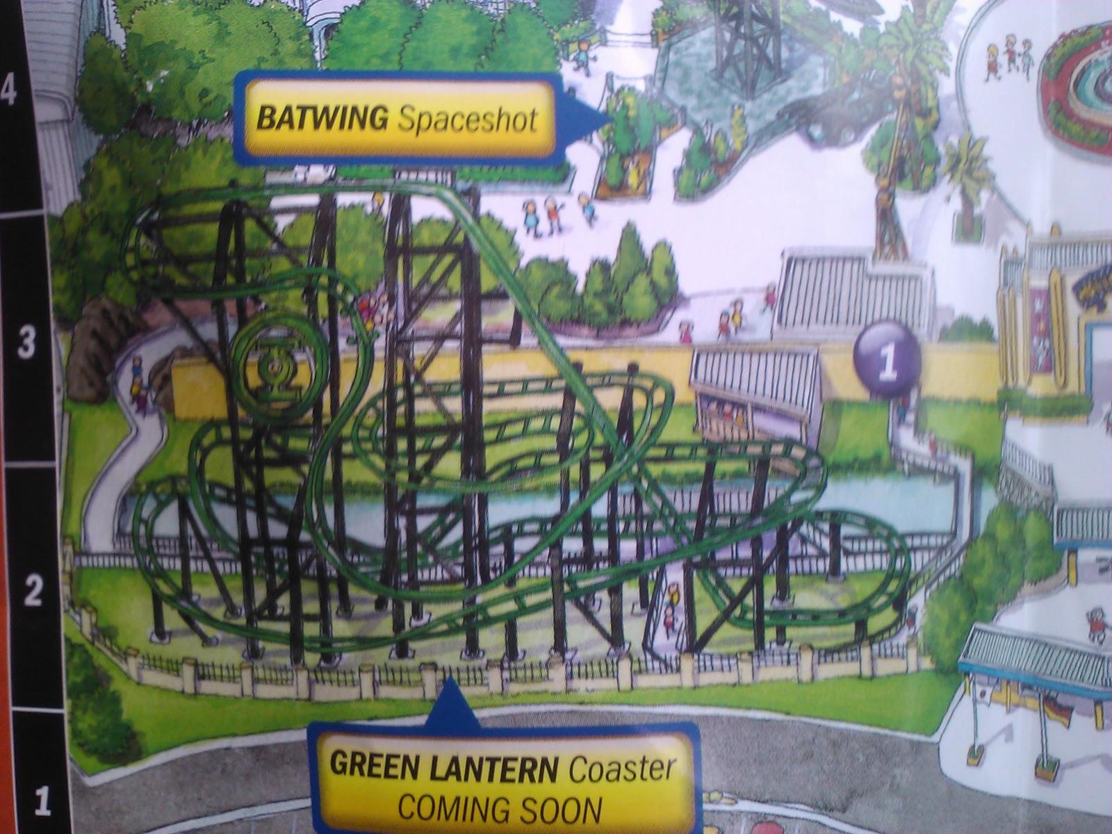 Theme Park Nut Movie World Green Lantern
