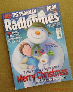 2012 Christmas Edition Radio Times Cover Snowman Raymond Briggs