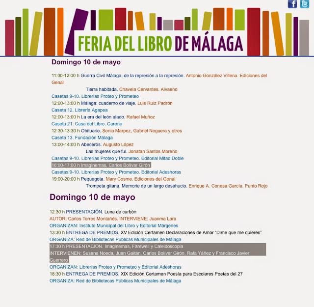 Imaginemas Feria del Libro de Málaga 2015