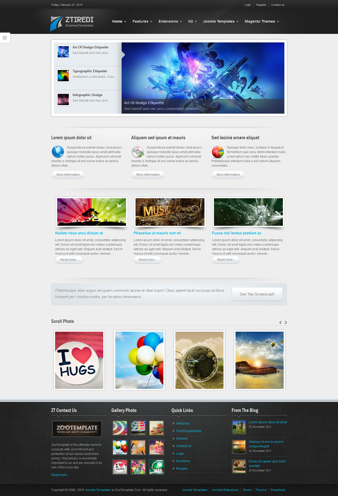 Share template ZT Iredi - Joomla 1.5-1.7
