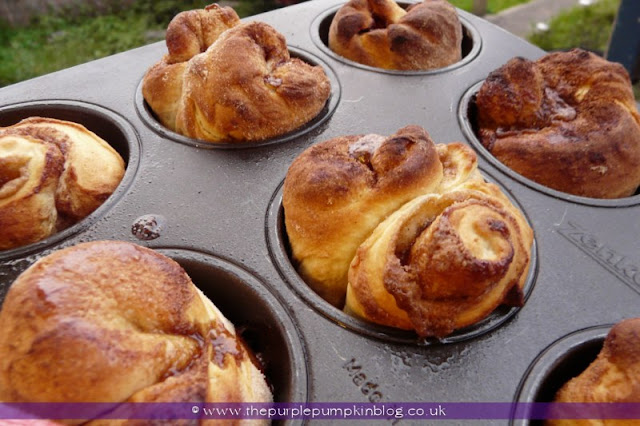Easy Cinnamon Rolls at The Purple Pumpkin Blog