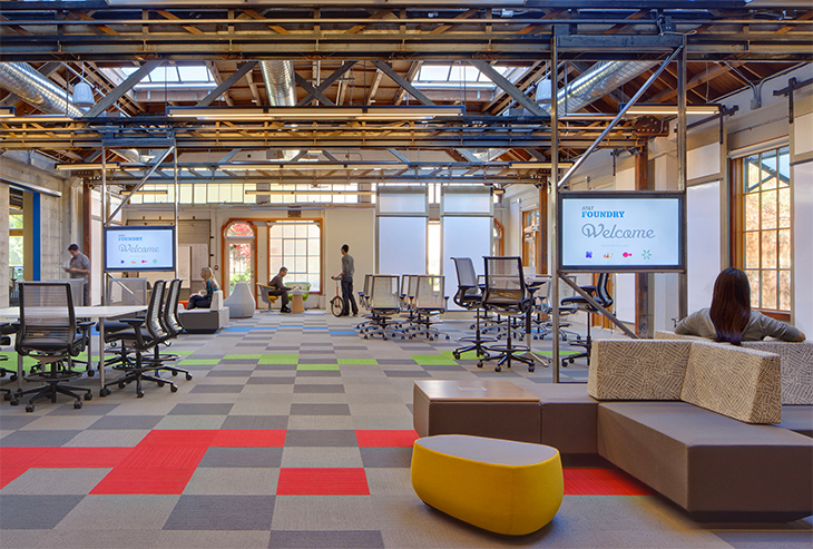 Hybrid workplace a blog of life for Most innovative office spaces