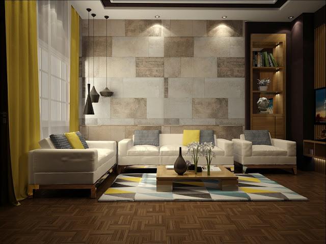 interior dengan aksen warna kuning 3