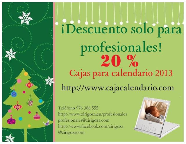 Tarjeta Campaña caja calendario