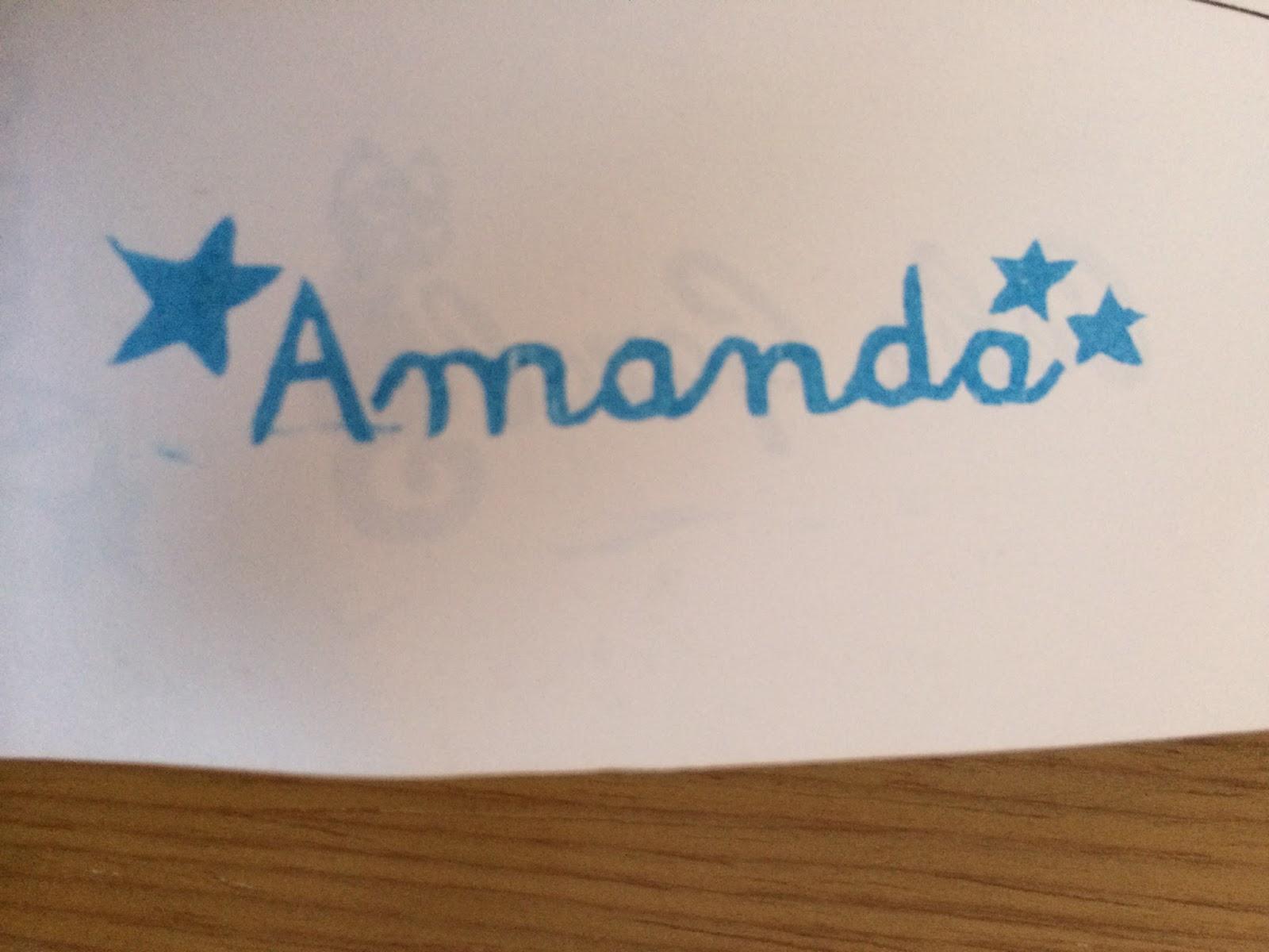 Sellos de goma hecho a mano de Amanda con estrellas