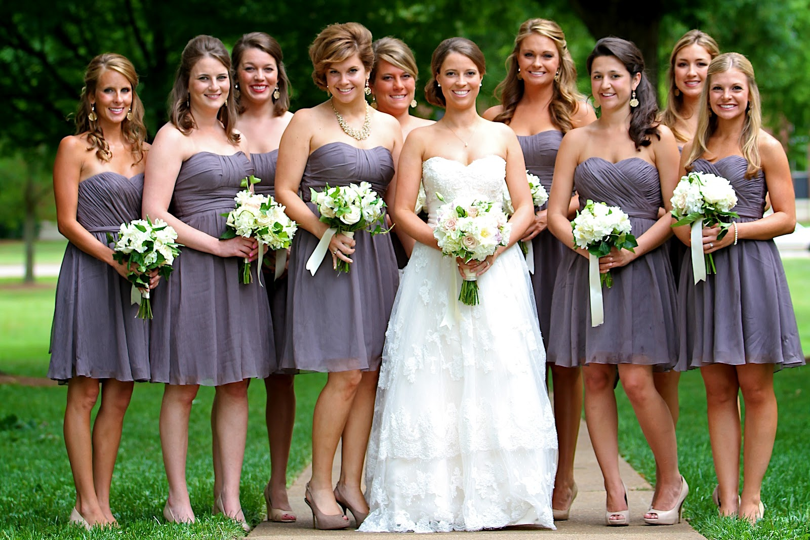 Long and Short Bridesmaid