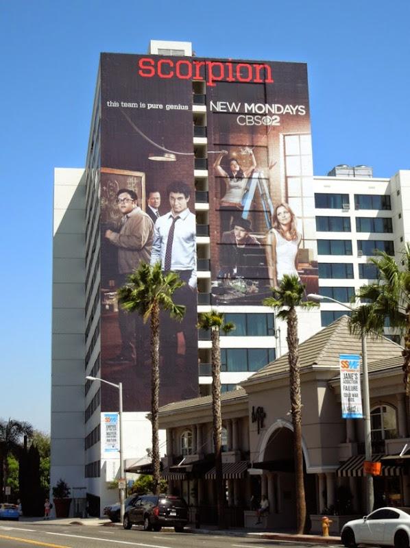 Giant Scorpion series launch billboard