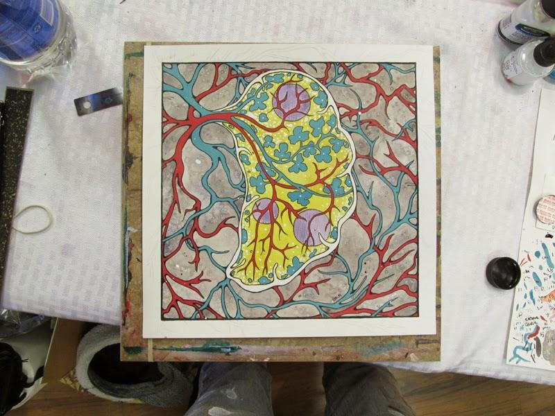 ©2014 Lauren T Kistner, Spleen Wip, watercolor & ink, www.laurentkistner.com