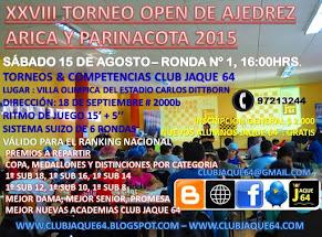 XXVIII TORNEO OPEN DE AJEDREZ ARICA Y PARINACOTA 2015