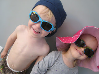 Maximilian and Artemis Wearing Sunglasses