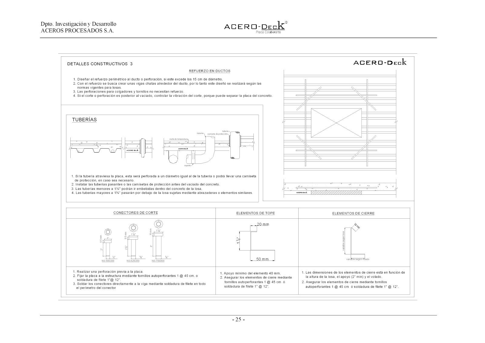 Estructuras Uno: Steel Deck- Sistema constructivo