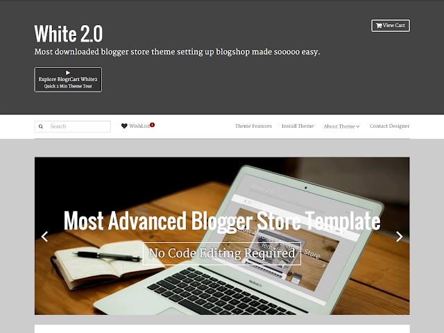 tutorial add animation Blogger template image slider by slickjs responsive slider for blogrcart white2