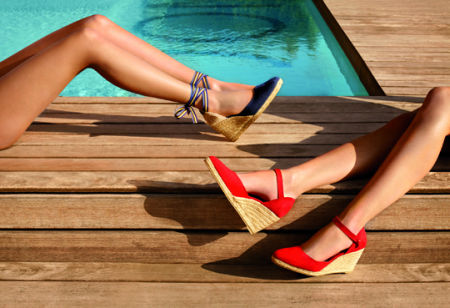 zomerschoenen dames sleehak
