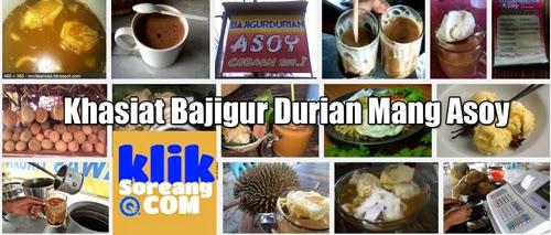 Khasiat Bajigur Durian Mang Asoy