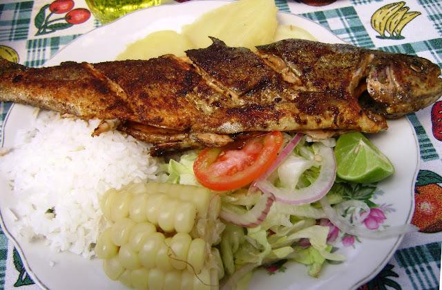Comida de la selva peruana - trucha frita