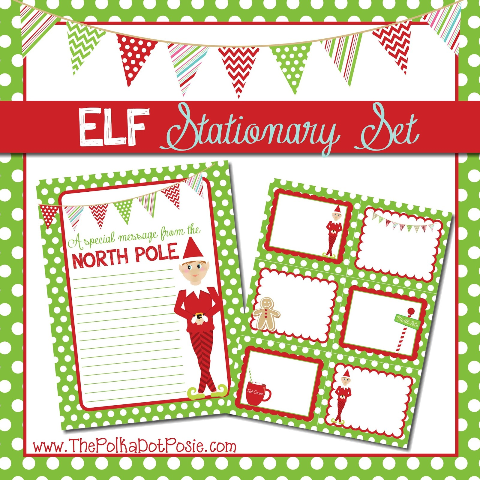 little treat from our Elf to yours…here are two free printables you ...