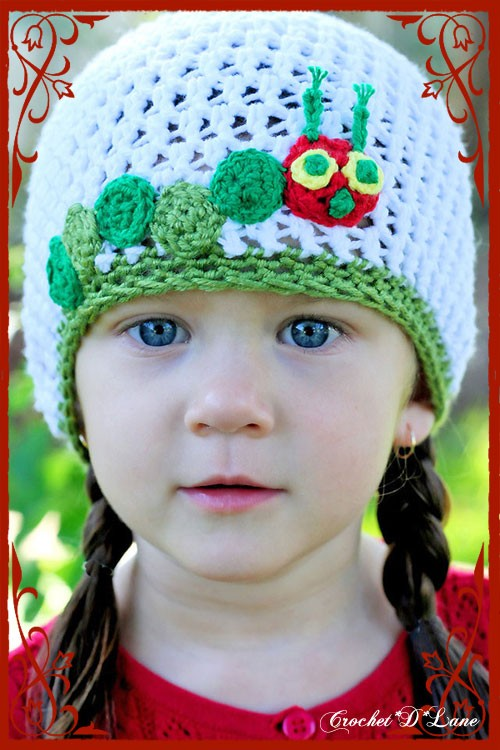 Crochet Caterpillar Hat Pattern : crochet d lane: First Free Pattern: The Very Hungry ...