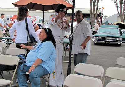 """Please don't fall backwards, Mam"" Elvis at the Orange County Elvis Festival, Orange County Fairgrounds, Costa Mesa, CA #Elvisfest #Elvis #California www.thebrighterwriter.blogspot.com"