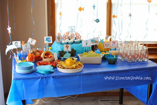 Octonauts Birthday Party Food Ideas | Party Table | Under the Sea Party at directorjewels.com