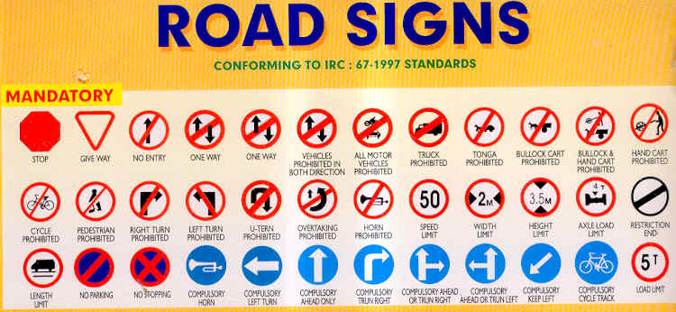 indian transport online the importance of road traffic signs