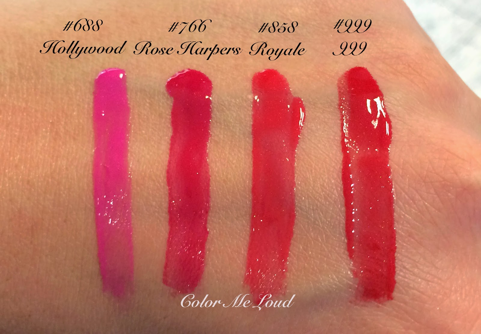 Dior Rouge Brilliant, Swatches of all the Shades | Color Me Loud