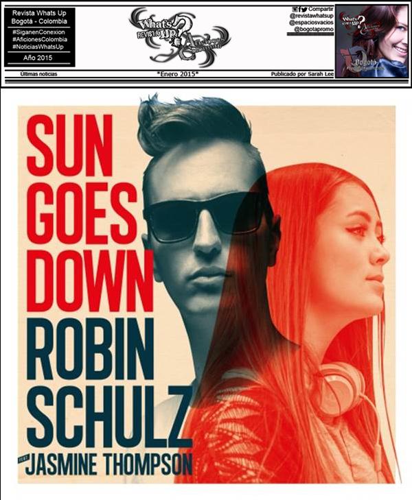 """Robin Schulz El fenómeno actual de la música electrónica presenta su nuevo sencillo """"Sun Goes Down"""" feat. Jasmine Thompson"""