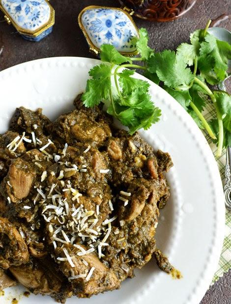 Coriander Pepper Chicken / Cilantro Chicken Recipe