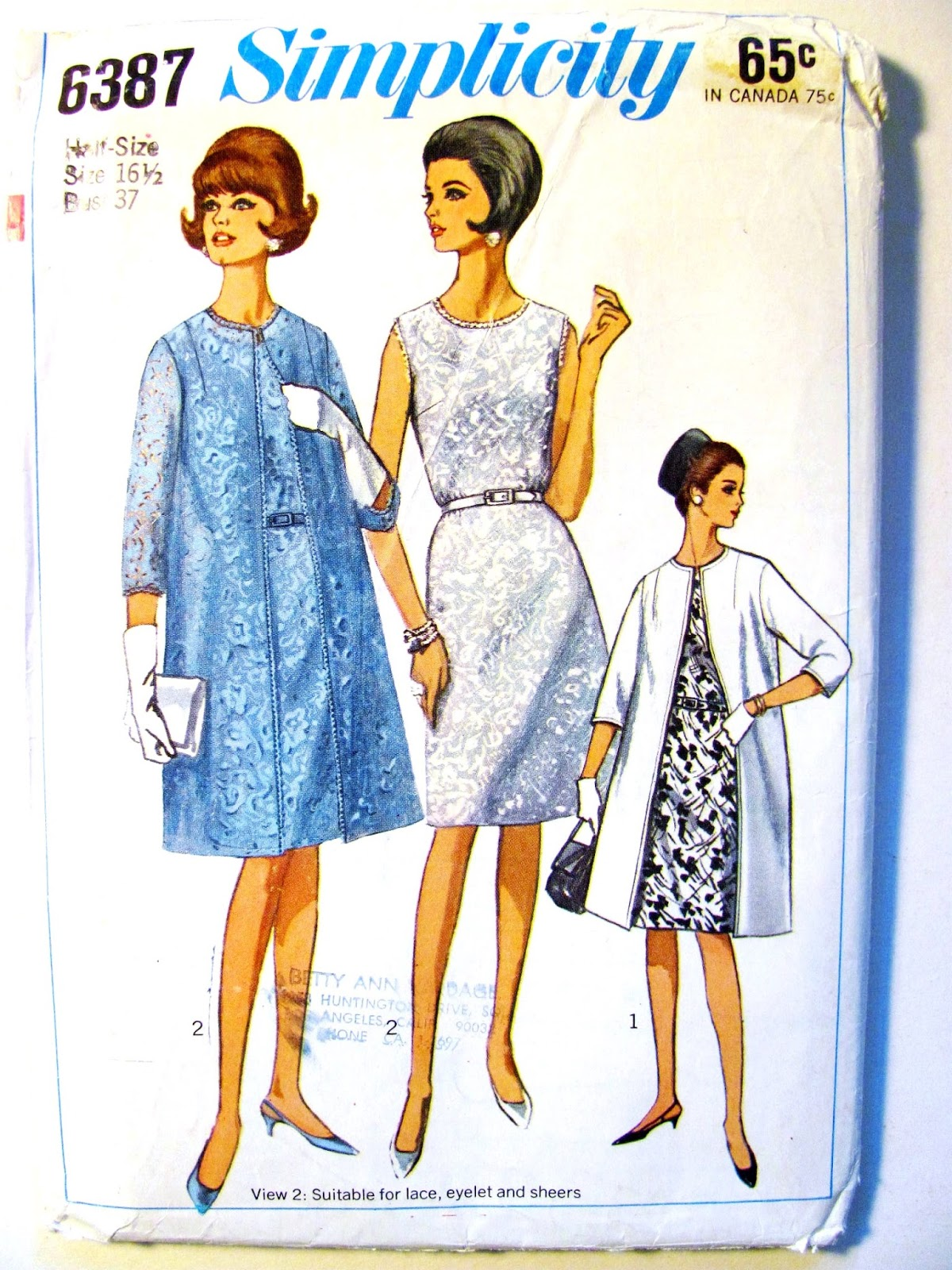 Pintucks: Simplicity 6387: 1966 Sewing Pattern for Research ...